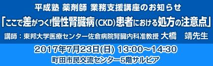 薬剤師業務支援講座:「ここで差がつく!慢性腎臓病(CKD)患者における処方の注意点」